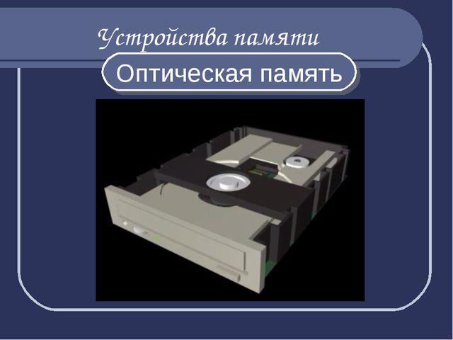 Устройства памяти Оптическая память