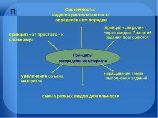 Принципы распределения материала Системность: задания располагаются в определ