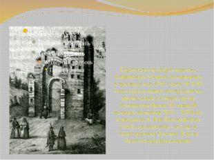 Строительство ворот вместе с Софийским собором упоминается в летописи под 103