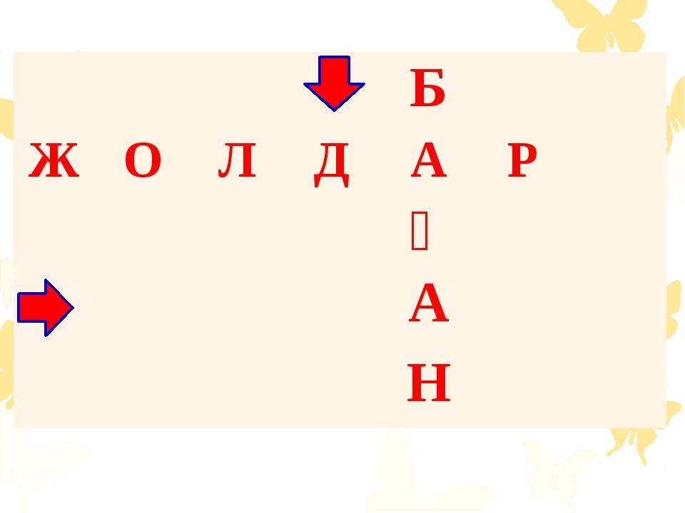 Б Ж О Л Д А Р Ғ А Н