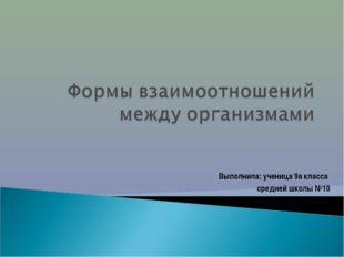 Выполнила: ученица 9а класса средней школы №10 Алексеева Анастасия.