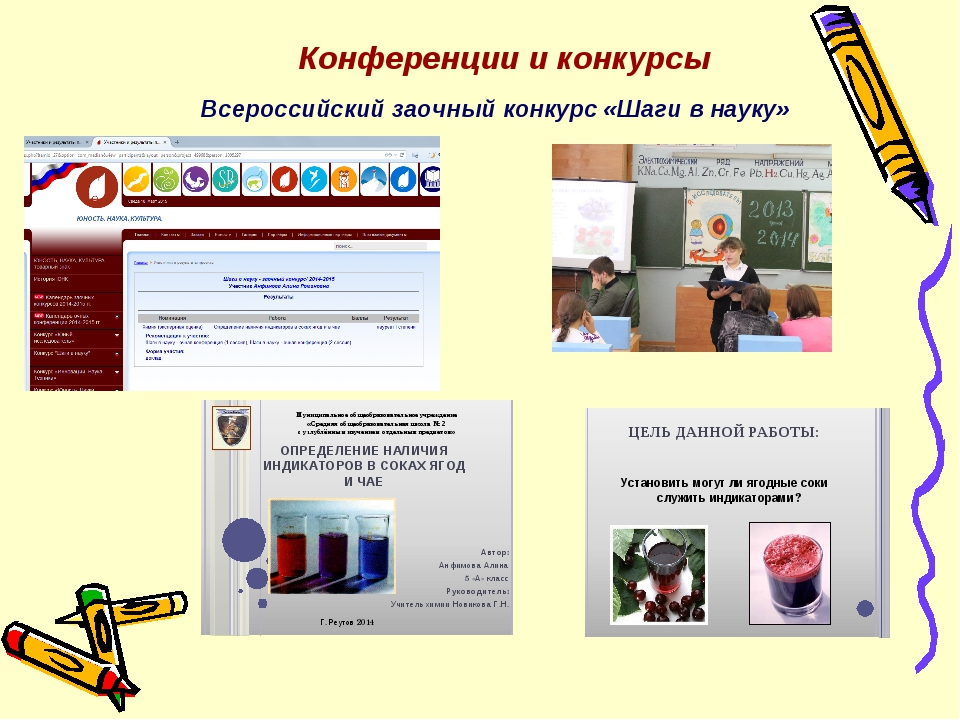 Конференции и конкурсы Всероссийский заочный конкурс «Шаги в науку»