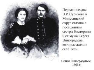 Первая поездка В.И.Сурикова в Минусинский округ связана с посещением сестры