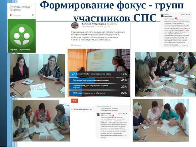 Формирование фокус - групп участников СПС