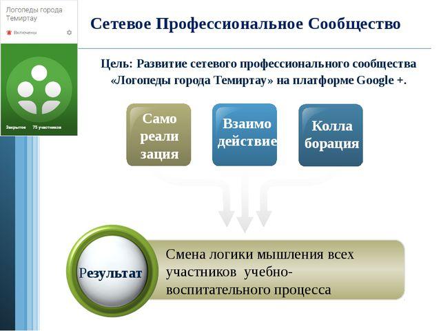 Сетевое Профессиональное Сообщество Само реали зация Взаимо действие Колла бо...