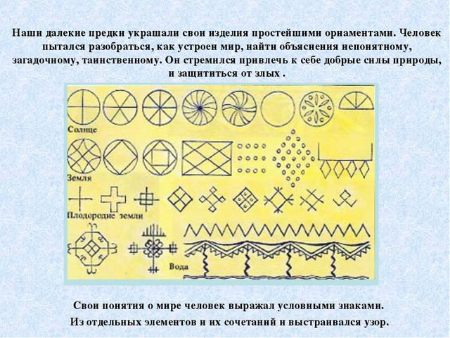 Наши далекие предки украшали свои изделия простейшими орнаментами. Человек п...