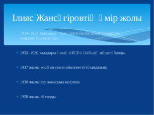 1934–1937 жылдары Қазақ саяси баспасының редакторы, сонымен бір мезгілде; 193