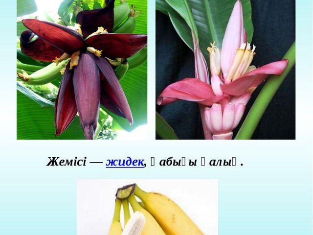 Банан ағашының гүлі мен жемісі Гүлі дара және қос жынысты Жемісі —жидек, қаб...
