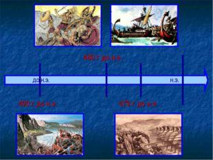 ДО Н.Э. Н.Э. 490 г до н.э. 480 г до н.э. 479 г до н.э.