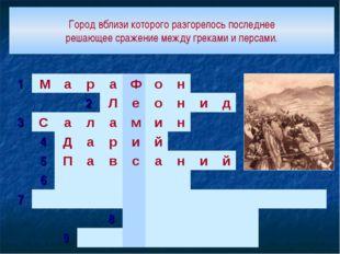 Город вблизи которого разгорелось последнее решающее сражение между греками и