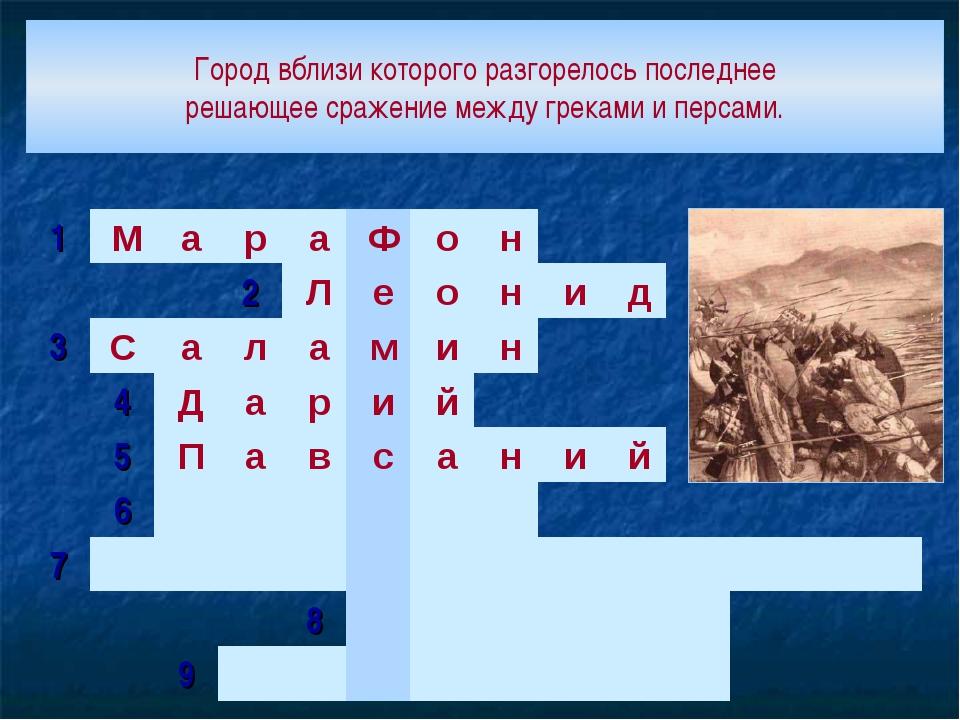 Город вблизи которого разгорелось последнее решающее сражение между греками и...