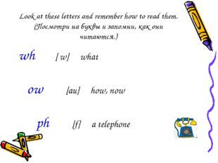 Look at these letters and remember how to read them.(Посмотри на буквы и запо