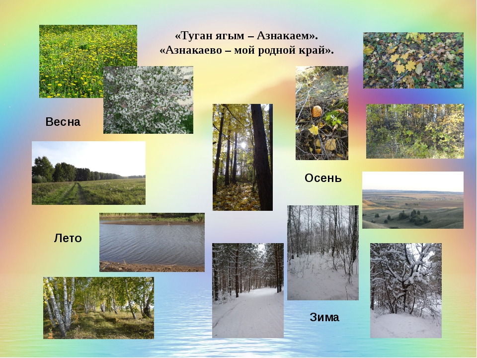 «Туган ягым – Азнакаем». «Азнакаево – мой родной край». Весна Лето Осень Зима