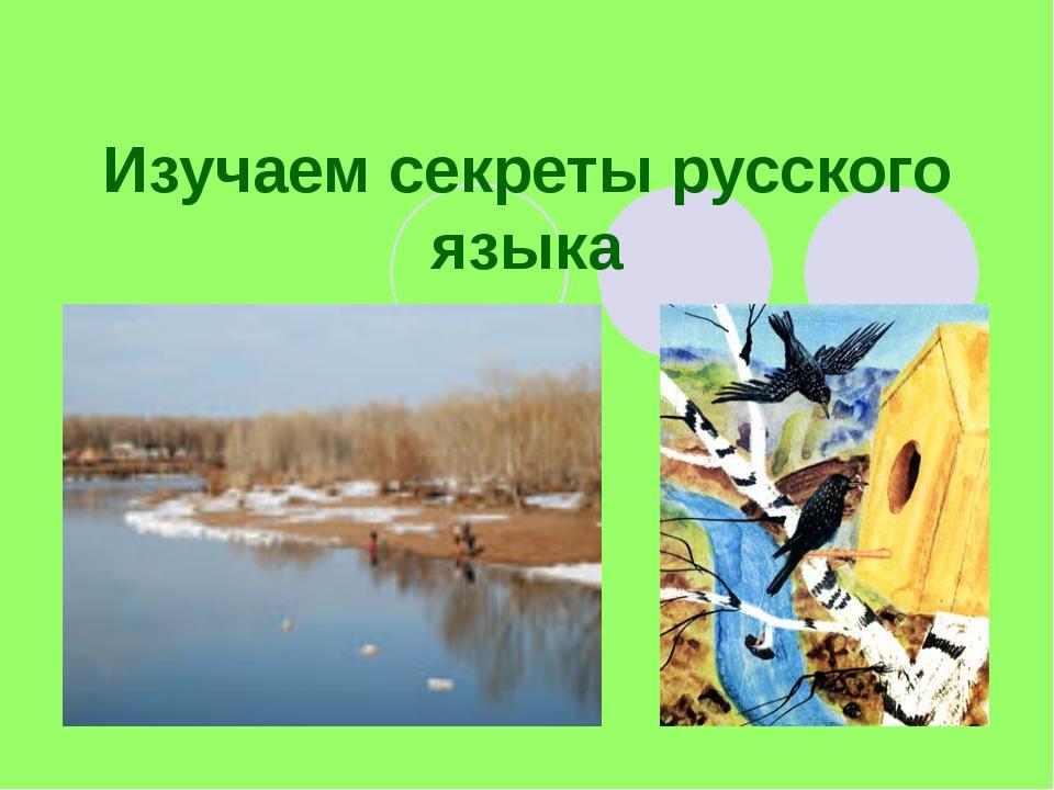 Изучаем секреты русского языка