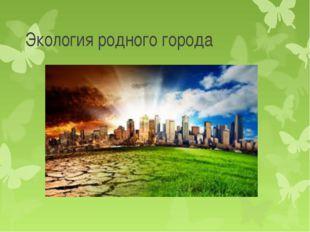 Экология родного города