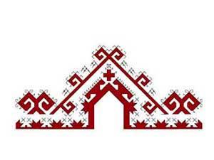 Орнамент на марийском национальном костюме - Оберег мужской силы (Oрма)