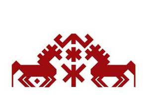 Орнамент на марийском национальном костюме - Лошадь (Имне)