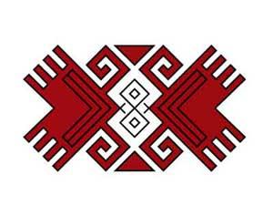 Орнамент на марийском национальном костюме - Бабочка (Лыве)