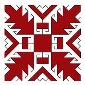 Орнамент на марийском национальном костюме - Дуб или дубовые листья (Тумо лышташ)