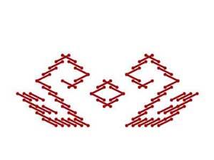 Орнамент на марийском национальном костюме - Лебеди (Йÿксö)