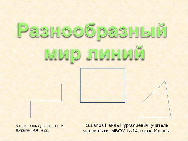 Кашапов Наиль Нургалиевич, учитель математики, МБОУ №14, город Казань. 5 клас...