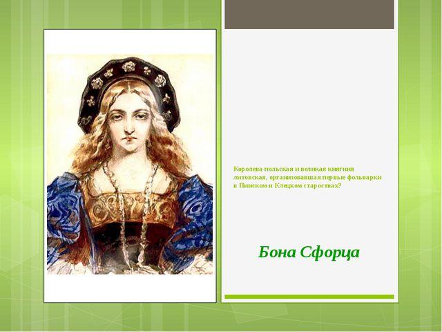 Королева польская и великая княгиня литовская, организовавшая первые фольварк...