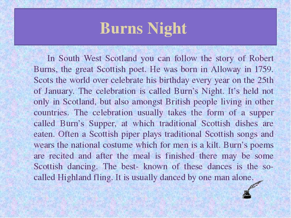 Burns Night 	In South West Scotland you can follow the story of Robert Burns,...