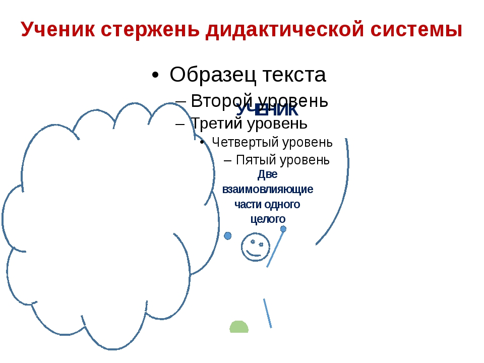 Ученик стержень дидактической системы