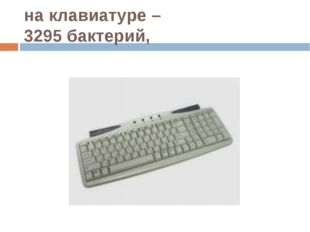 на клавиатуре – 3295 бактерий,