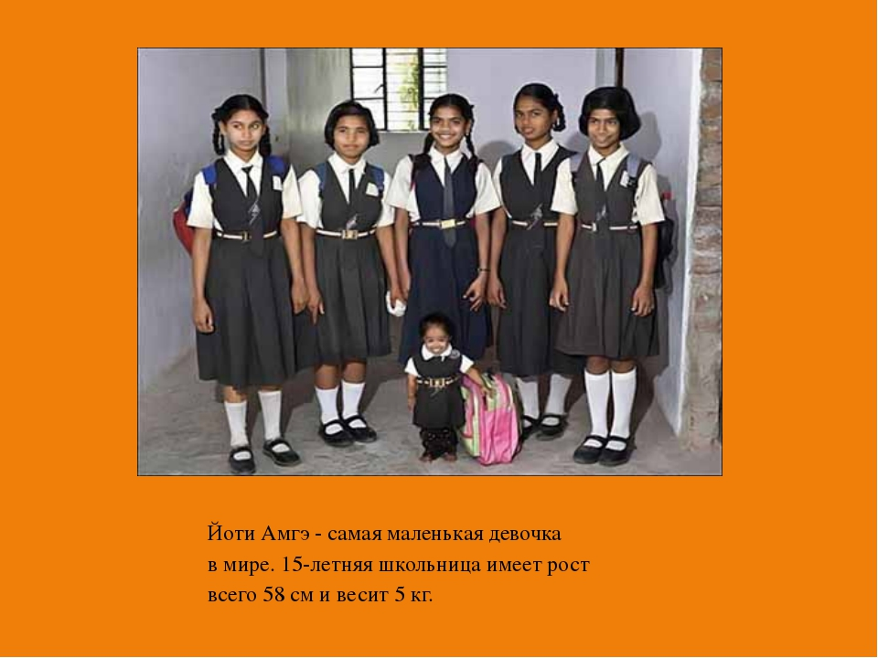 Йоти Амгэ - самая маленькая девочка в мире. 15-летняя школьница имеет рост вс...