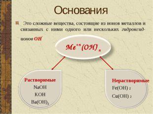 Это сложные вещества, состоящие из ионов металлов и связанных с ними одного