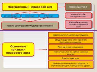 правовой документ изданный в особом процедурном порядке Изданный компетентным