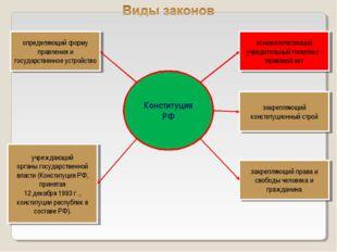 основополагающий учредительный политико - правовой акт закрепляющий конституц