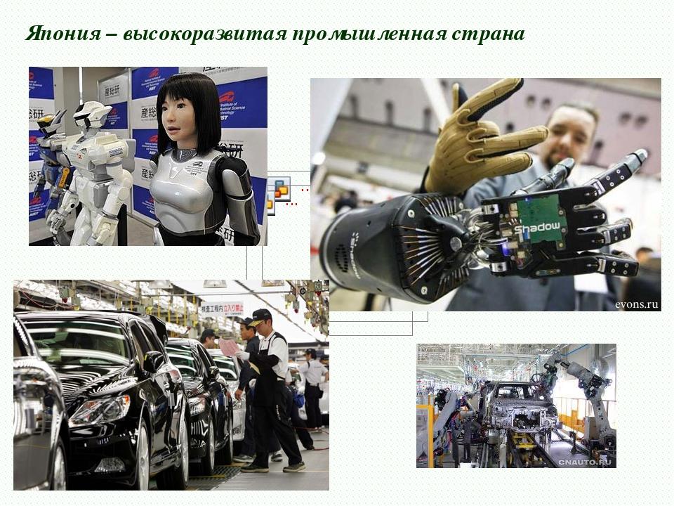Япония – высокоразвитая промышленная страна