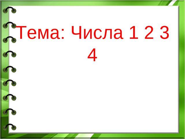 Тема: Числа 1 2 3 4
