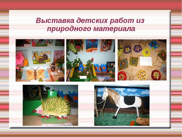 Выставка детских работ из природного материала