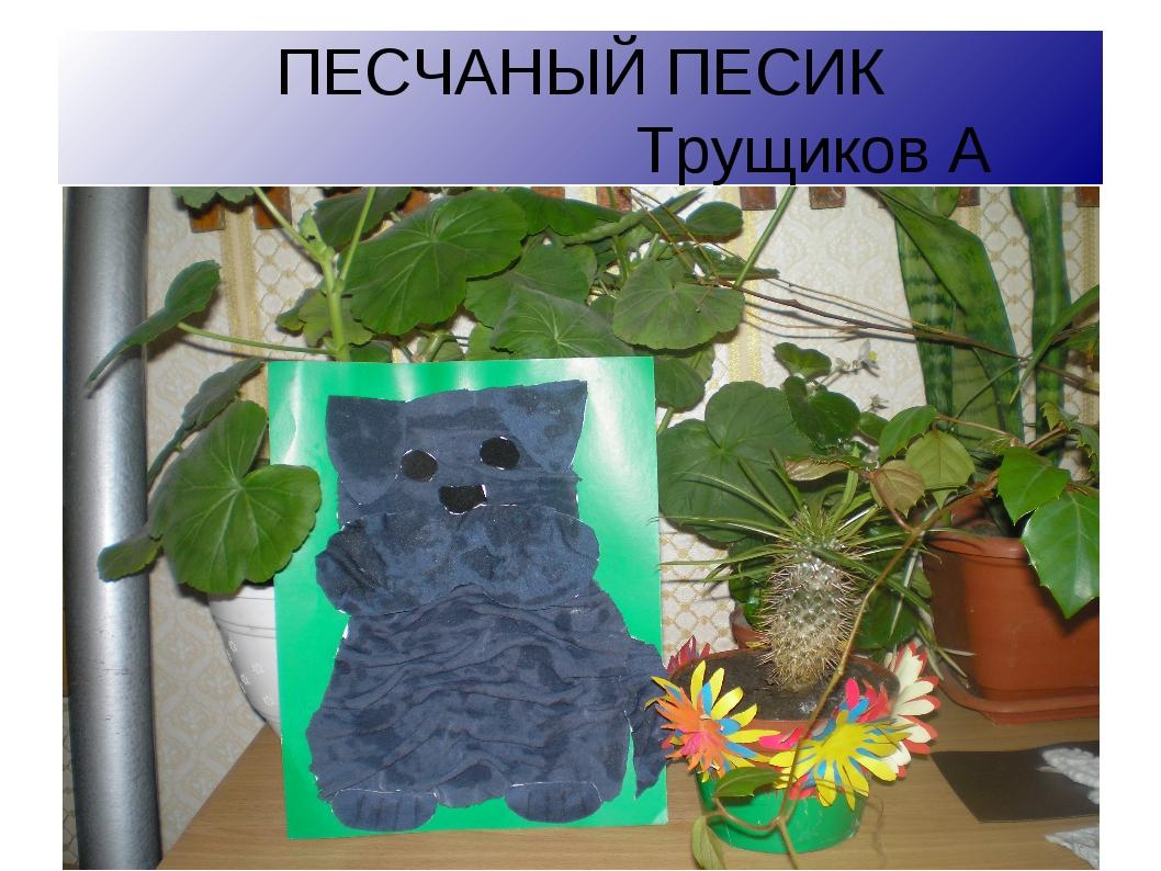 ПЕСЧАНЫЙ ПЕСИК Трущиков А