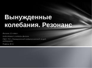 Физика 11 класс подготовил учитель физики ГБОУ РО «Таганрогский педагогически