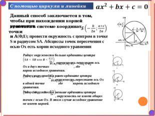 Данный способ заключается в том, чтобы при нахождении корней уравнения отмети