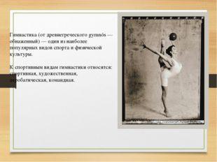 Гимнастика (от древнегреческого gymnós — обнаженный) — один из наиболее попул